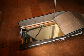After energy saving   attic staircase cover